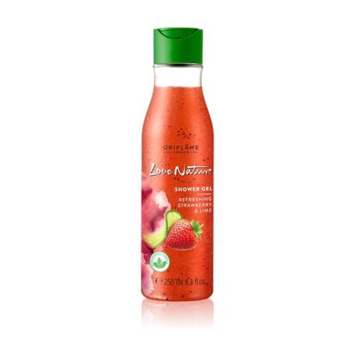32610 oriflame - Gel tắm tẩy tế bào chết Oriflame Love Nature Exfoliating Shower Gel Strawberry & Lime 250ml