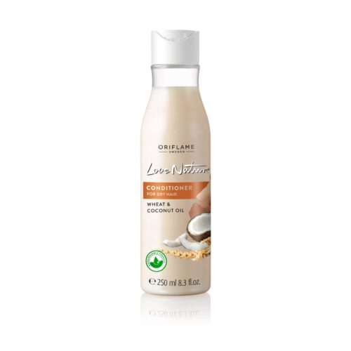 32619 oriflame - Dầu xả cho tóc khô Love Nature Conditioner For Dry Hair Wheat & Coconut Oil 250ml