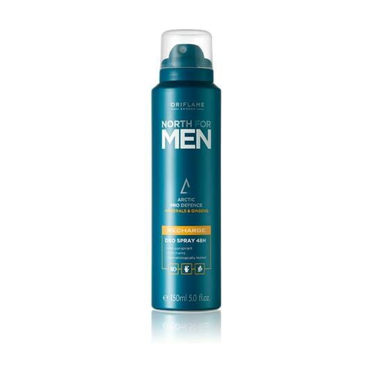 32012 oriflame - xịt khử mùi nam North for Men Recharge Deo Spray 48H 150ml