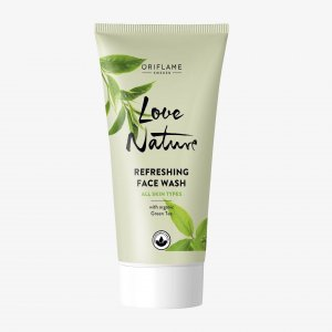 42043 oriflame sữa rửa mặt love nature Refreshing Face Wash with Organic Green Tea