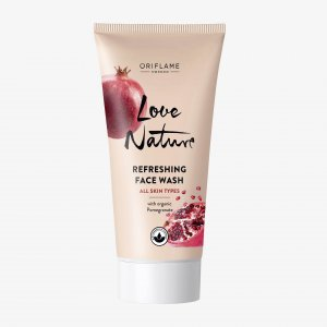 42044 oriflame sữa rửa mặt love nature Refreshing Face Wash with Organic Pomegranate