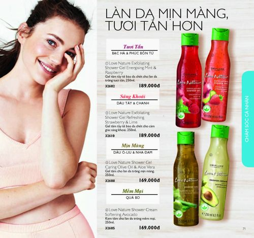 catalouge oriflame thang 1 2018
