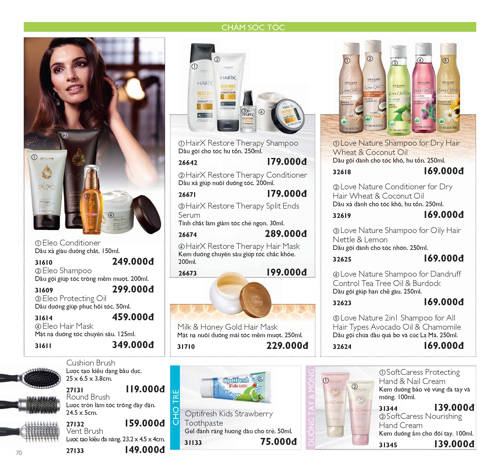 catalogue my pham oriflame thang 8 2017